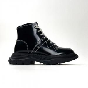 Ботинки Alexander McQueen Tread Slick Black (Мех)
