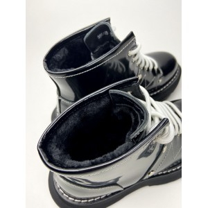 Ботинки Alexander McQueen Tread Slick Black (Мех)