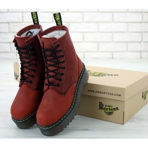 Ботинки Dr Martens Jadone Red (Мех)