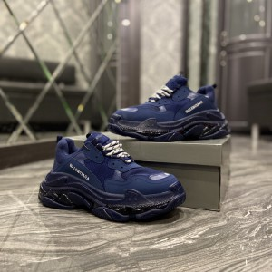 Кроссовки Balenciaga Triple S Clear Sole Dark Blue