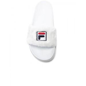 Шлепанцы Fila Faux Fur Pool Slide Sandals White
