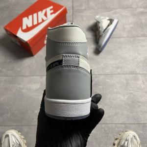 Кроссовки Dior x Nike Air Jordan 1 MID Grey