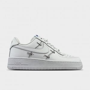 Кроссовки Nike Air Force 1 LX Chrome Swooshes White