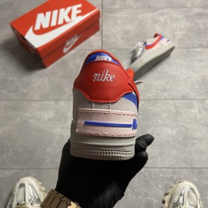 Кроссовки Nike Air Force Shadow Grey Red Blue