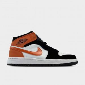 Кроссовки Nike Air Jordan 1 White Black Orange