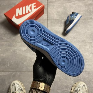 Кроссовки Nike Air Force 1 Low Travis Scott Blue