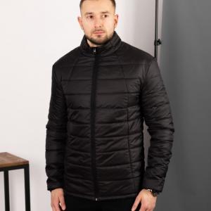 Мужская стеганная куртка, черная