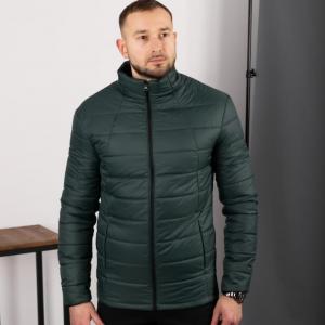 Мужская стеганная куртка, зеленая