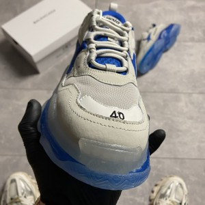 Кроссовки Balenciaga Triple S Clear Sole Gray Blue