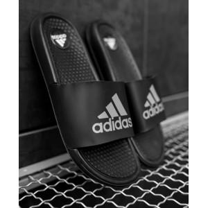 Тапки  Adidas Black  (рефлектив)