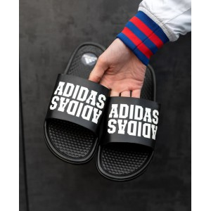 Тапки Adidas Black\White