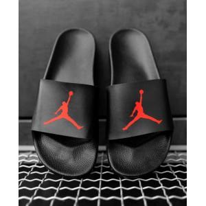 Тапки Jordan Black\Red