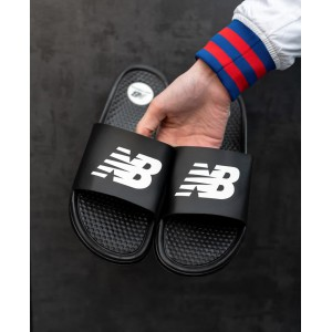 Тапки New Balance Black\White