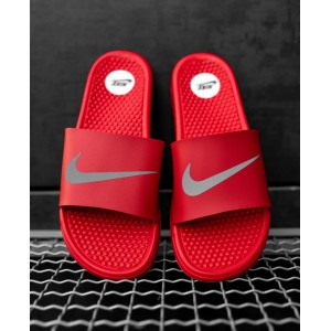 Тапки  Nike Red (рефлектив)