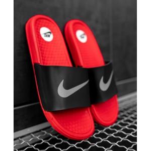 Тапки  Nike Red\Black  (рефлектив)