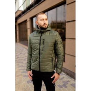 Мужская стеганая куртка, хаки