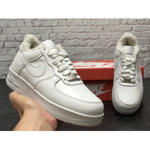 Низкие зимние кроссовки Nike Air Force (кожа two)