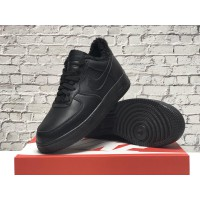 Низкие зимние кроссовки Nike Air Force (кожа one)