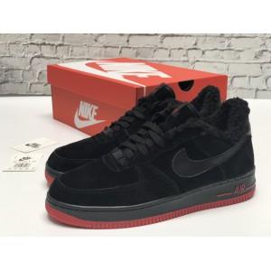 Низкие зимние кроссовки Nike Air Force (замша two)