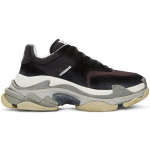 Кроссовки Balenciaga Triple s V2 Black Burgundy