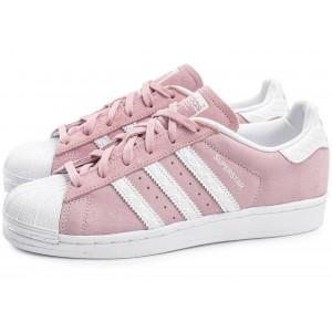 Кроссовки Adidas Superstar Suede Pink White