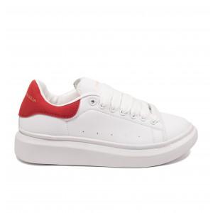 Кроссовки Alexander McQueen x Adidas White Red