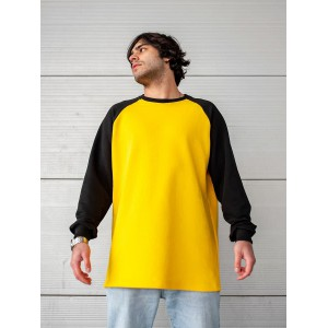 Свитшот South Oversize yellow\black