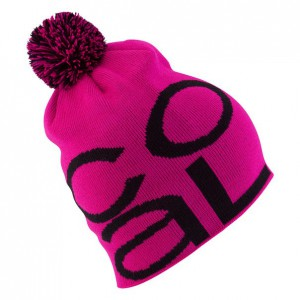 Шапка Coal Logo Beanie in Magenta Black