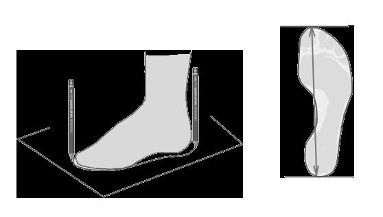 Илюстрация как очертить стопу