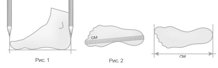 Понимание размера стопы